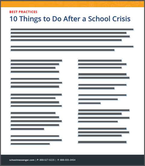 10 Things To Do After A School Crisis
