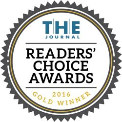 T.H.E. Journal Readers' Choice Award 2016 - Gold