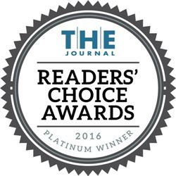 T.H.E. Journal Readers' Choice Award 2016 - Platinum