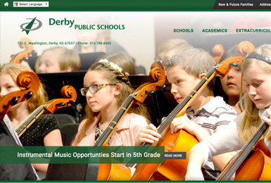 Derby Public Schools website thumbnail