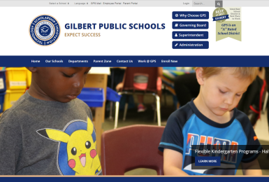 Gilbert Pubilc Schools website thumbnail