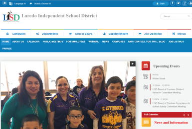 Laredo ISD website thumbnail