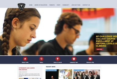 Maine Township High School District 207 website thumbnail