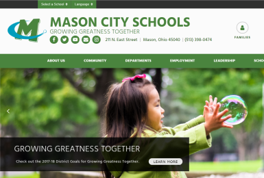 Mason City Schools website thumbnail