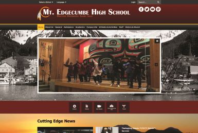 Mt. Edgecumbe High School website thumbnail