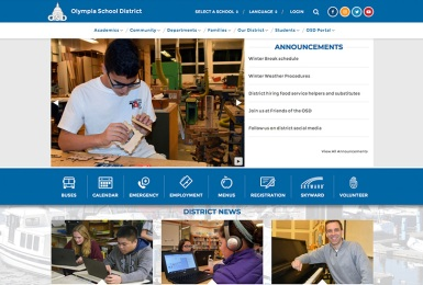 Olympia School District website thumbnail