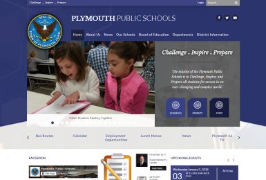 Plymouth Public Schools website thumbnail
