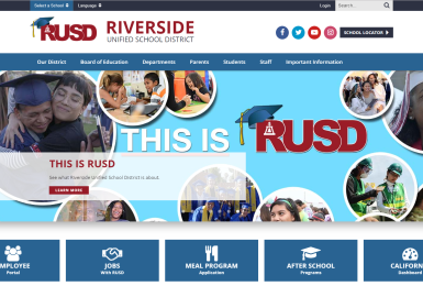 Riverside Unified School District website thumbnail