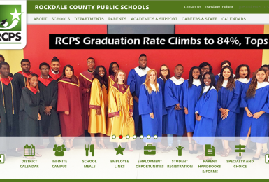 Rockdale County Public Schools website thumbnail