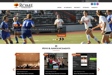 Rome City School District website thumbnail