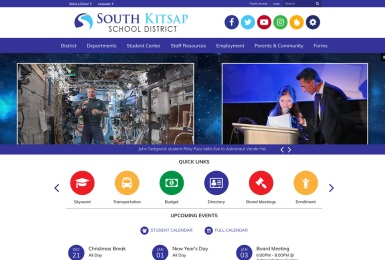 South Kitsap School District website thumbnail