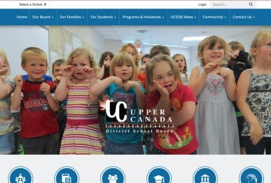 Upper Canada District School Board website thumbnail